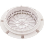 Aquastar  8 inch Low Profile Anti-Entrapment Cover with Vented Mud Frame White