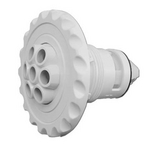 Poly Deluxe Massage Large Face Seven Nozzle Spa Jet Internals, White
