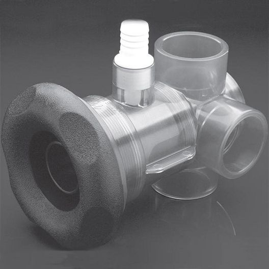 Waterway - Turbo Spa Jet Diverter Valve Spa Jet Body Assembly Five Scallop - 320137
