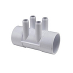 Waterway  Spa Manifold 2in S x 2in S x (4 3/4in Hose Barbed Ports