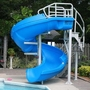 Complete Pool Slide with Staircase