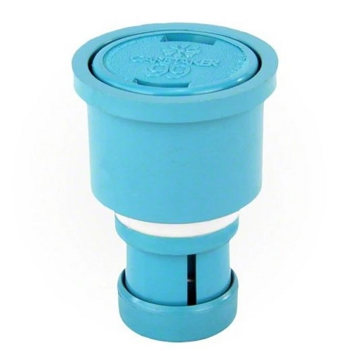 Jandy - Caretaker High Flow Cleaning Head with 2in. Collar and Cap, Tile Blue
