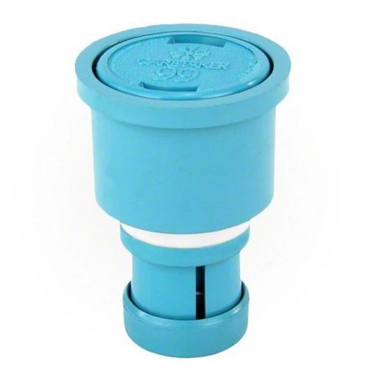 Caretaker High Flow Cleaning Head with 2in. Collar and Cap, Tile Blue