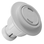 Caretaker High Flow Cleaning Head with UltraFlex Collar and Cap, Bright White