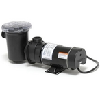 Center Discharge 48-Frame 3/4HP Dual-Speed Above Ground Pool Pump with 3' NEMA Cord, 115V