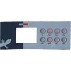 Gecko - Spa Side Overlay TSC-4 (8-Button) LCD for #0201-007148 - 320542