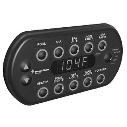 SpaCommand Spa-Side Remote Control with 150' Cable, Black