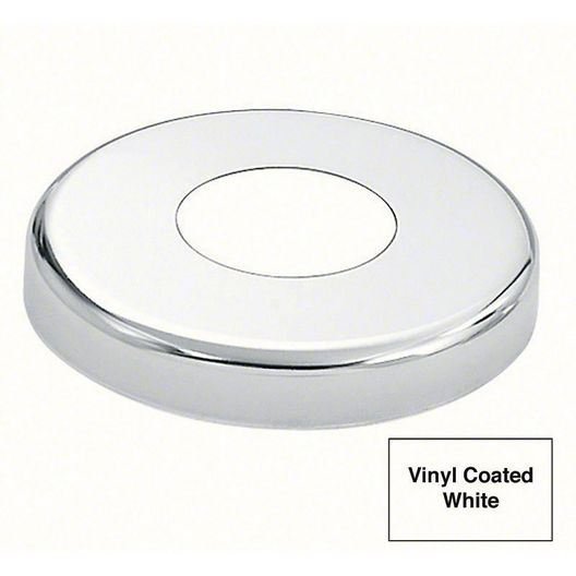 "1.90"" Round Escutcheon with Vinyl Coated, White"