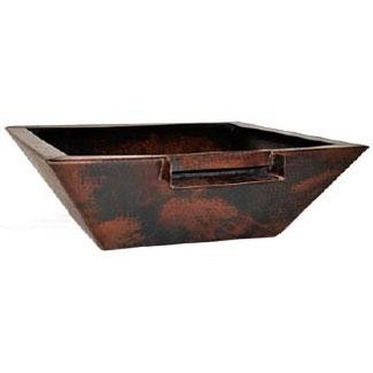29in. Corinthian Manual One Bowl Copper Fire and Water Bowl System