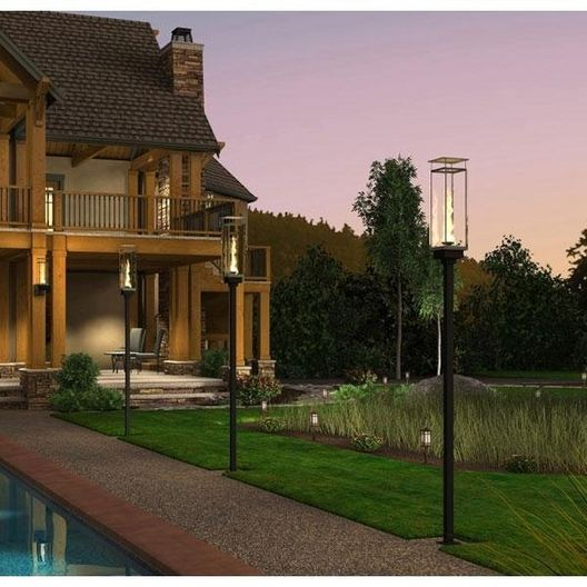 Vertical Torch (Deck Mount) 69in. Tall Post Manual Four Torch System