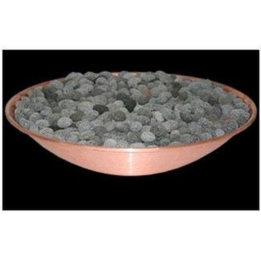 """Linear Insert Tumbled Lava Media for 48"""" Inner Mount Line Burner Bowl Accessory System"""