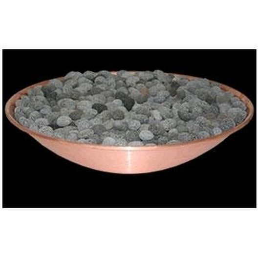 "Linear Insert Tumbled Lava Media for 96"" Inner Mount Line Burner Bowl Accessory System"