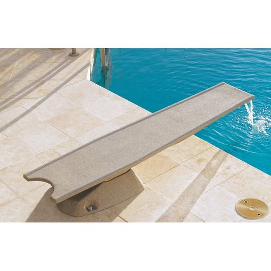 T7 Diving Board with Edgewater Waterfall Assembly, Pebble Finish