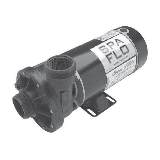 Spa Flo Dual Speed 48-Frame 1-1/2HP Spa Pump with 1-1/2in. Intake and Discharge, 115V