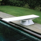 S.R. Smith - Frontier III 8' Complete Diving Board Salt Pool Jump System, Radiant White - 322783