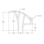 S.R. Smith - Artisan Hand Rail, 2 Pack - 323127