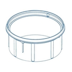 Paramount  Debris Containment Canister Deck Ring White