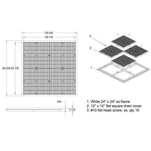 24in Plastic/Stainless Steel Stabilizer Frames, Light Gray