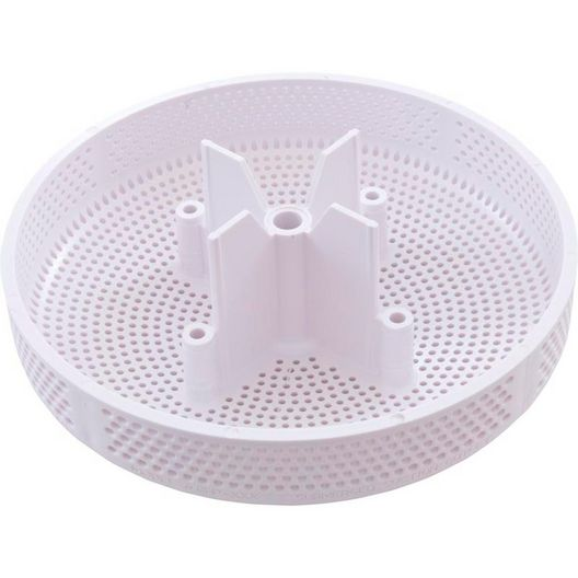 Aquastar - 6 inch Round Sumpless Suction Outlet, White - 32980