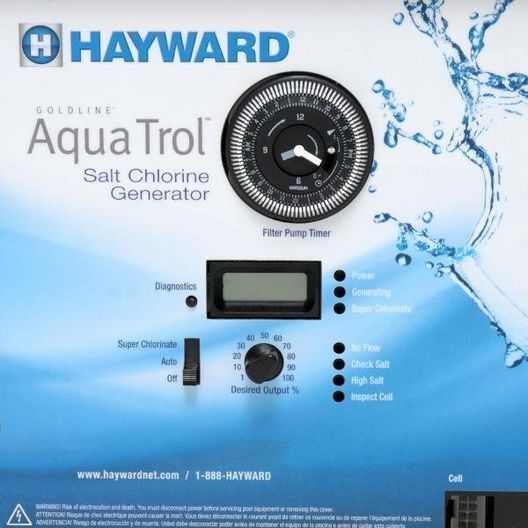 Hayward - W3AQ-TROL-RJ - Complete Salt System for Above Ground Pools Return Jet Mounting- Limited Warranty - 340094