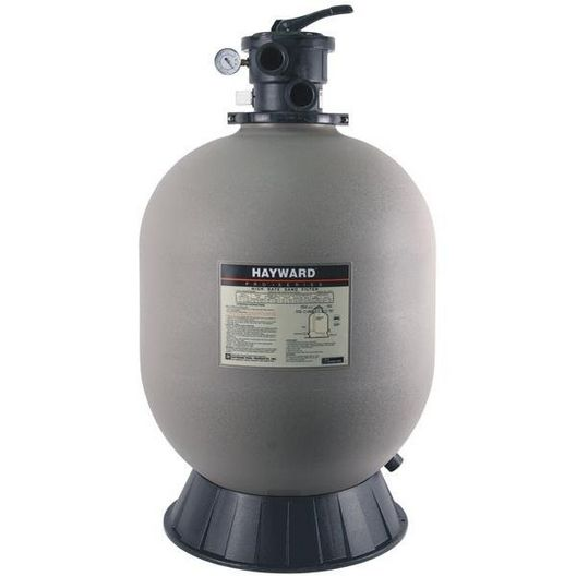 """Hayward - W3S244T - 24"""" Sand Filter with 1-1/2"""" Top Mount Multiport Valve- Limited Warranty - 342078"""