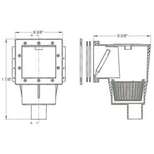 Hayward - Dyna-Skim Pool Liner Skimmer with Vac Plate - 34737