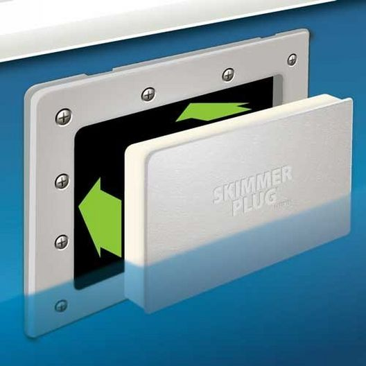 Simpooltec - Skimmer Plug Winter Closure for Wide Mouth Above Ground Pool Skimmers - 34853