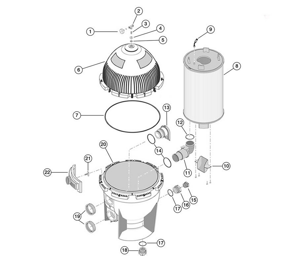System 3 SMD Modular DE Filter Replacement Parts image