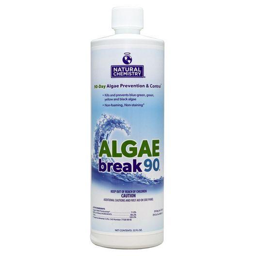 Natural Chemistry - Algae Break 90 Day Algaecide, 32oz - 360259