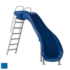 610-209-5823 Rogue2 Pool Slide with Left Curve, Marine Blue