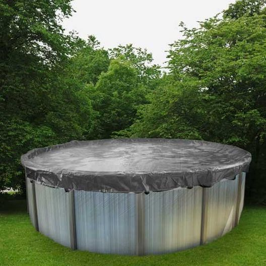 Pro 15' Round Winter Pool Cover, 15 Year Warranty, Silver