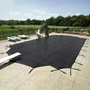 18' x 36' Rectangle Mesh Safety Cover, Black - 30 yr Warranty
