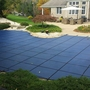 Pro SunBlocker Mesh 18' x 36' Rectangle Safety Cover with 4' x 8' Right Side Step, Blue