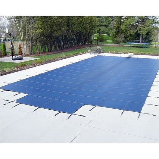 Polarshield - Deck Lock 16' x 32' Rectangle Mesh Safety Cover with Center End Step, Green - 18 Year Warranty - 360899