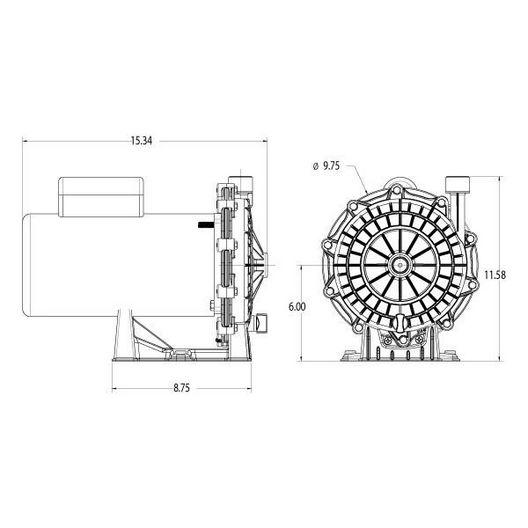 Waterway - Universal Replacement Pressure Side Pool Cleaner Booster Pump - 361359