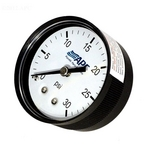 Pressure Gauge, poly case, 1/4 inch tap, 0-30#, back mount, 2 inch face