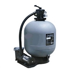 Carefree 22 inch Sand Filter Above Ground Pool System with 1HP Up-Rated Dual Speed Pump
