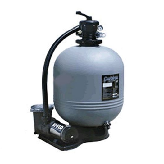 Waterway - Carefree 22 inch Sand Filter Above Ground Pool System with 1HP Up-Rated Dual Speed Pump - 361470