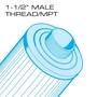 40 sq. ft. Top Load - Coleman Spas Vita Spas Replacement Filter Cartridge