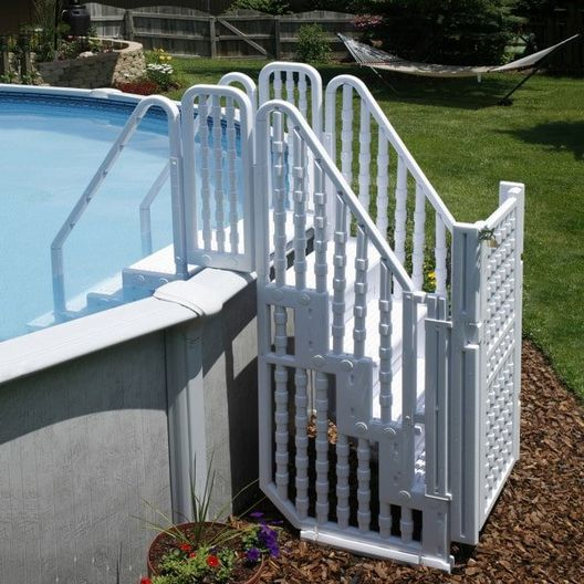 Above Ground Pool Step Entry System with Gate NE138