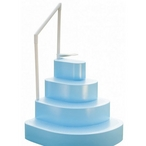 Splash  NE100BL Wedding Cake Step for Above Ground Pools in Blue