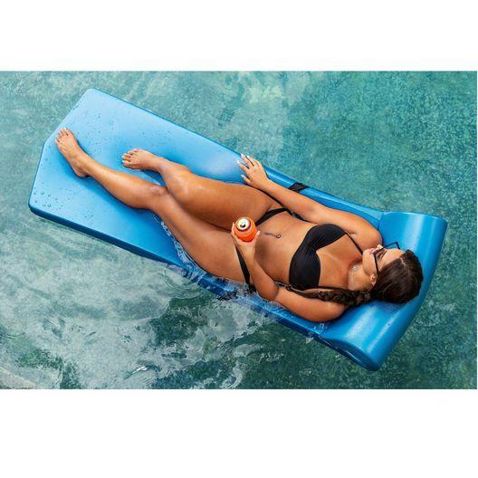 "Texas Recreation - Sunsation Foam Pool Float, 1-3/4"" Thick, Metallic Blue - 361883"