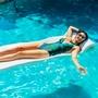 """8010026 Foam Pool Float, 2"""" Thick, Bahama Blue"""