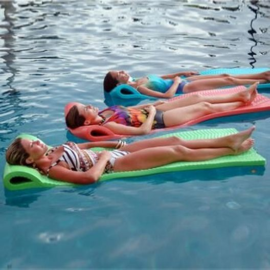"""Texas Recreation - Serenity Pool Float, 1-1/2"""" Thick, Tropical Teal - 361918"""