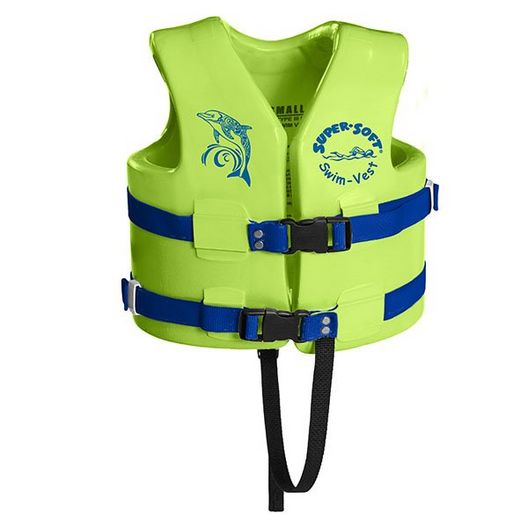 Texas Recreation  Small Super Soft Life Vest with Leg Strap Kool Lime