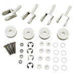 Pentair - #250 Replacement kit, 4 each, #174 wheels, #263 casters, #264 axle assembly, #267 clips - 361952