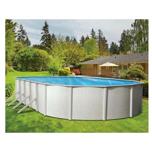 16' x 32' Oval Blue Solar Cover Three Year Warranty, 8 Mil