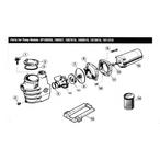 Hayward  Max-Flo Series SP1800X Max-Rated Pool Pump Parts