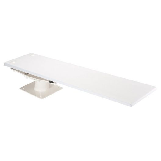 8' Glas-Hide Diving Board with Cantilever Stand, Marine Blue/White