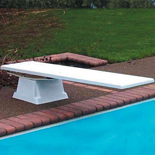 S.R. Smith - 8' Glas-Hide Diving Board with Supreme Stand, Marine Blue/White - 364892